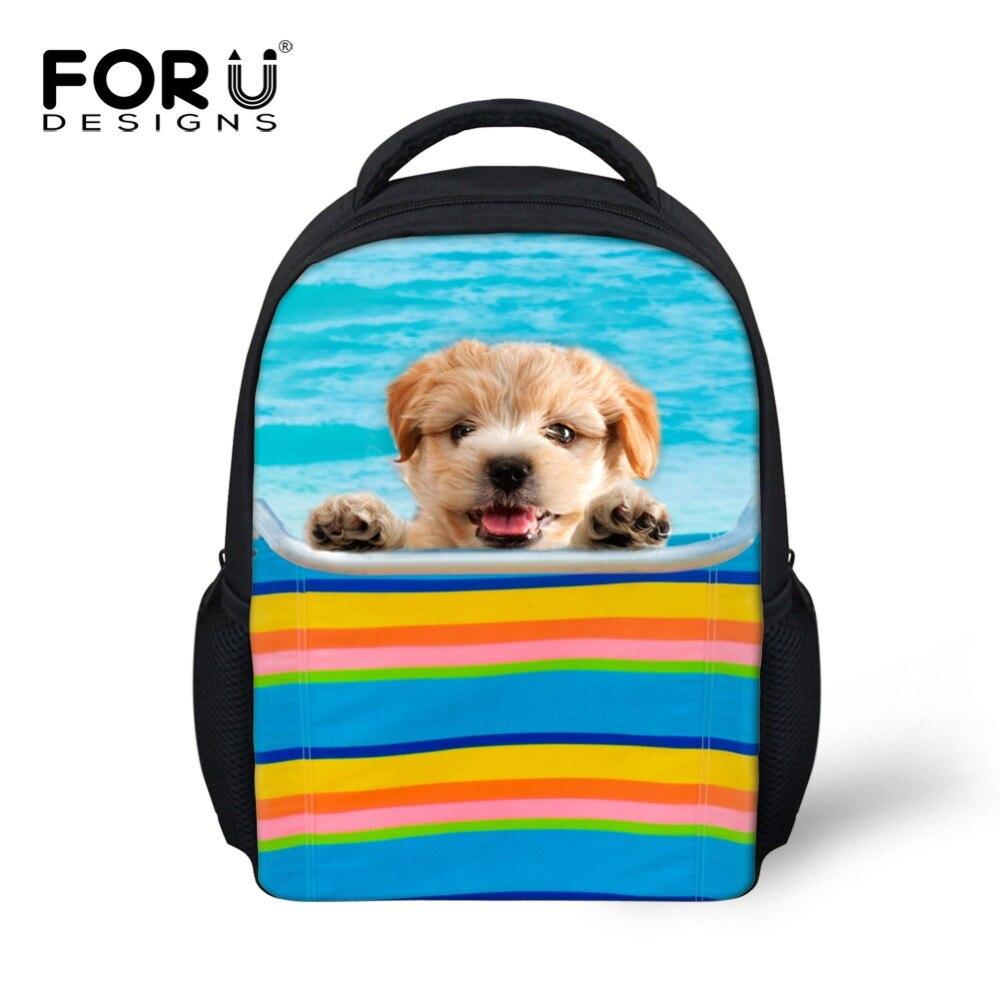 Cute Dog Printed Children School Bags for Girls Gift Animal Canvas Kindergarten Kids Schoolbag Baby Book Bags Mochila Infantil