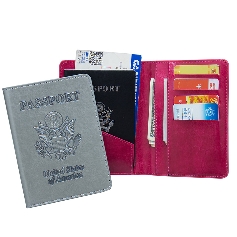 Official Website Russian Oil Black Pu Leather Double-headed Eagle Card Holder Bag Travel Built In Rfid Blocking Protect Personal Information Back To Search Resultsluggage & Bags
