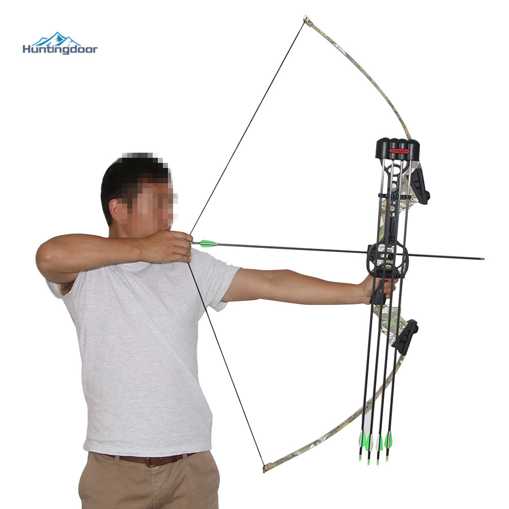 40lbs Camo Hunting Bow Archery Sling Shot Recurve Bow for Outdoor Fishing Shooting Bow Right Hand 40lbs archery hunting shooting bow take down bows and arrows right hand for adult sling shot aluminium bow riser