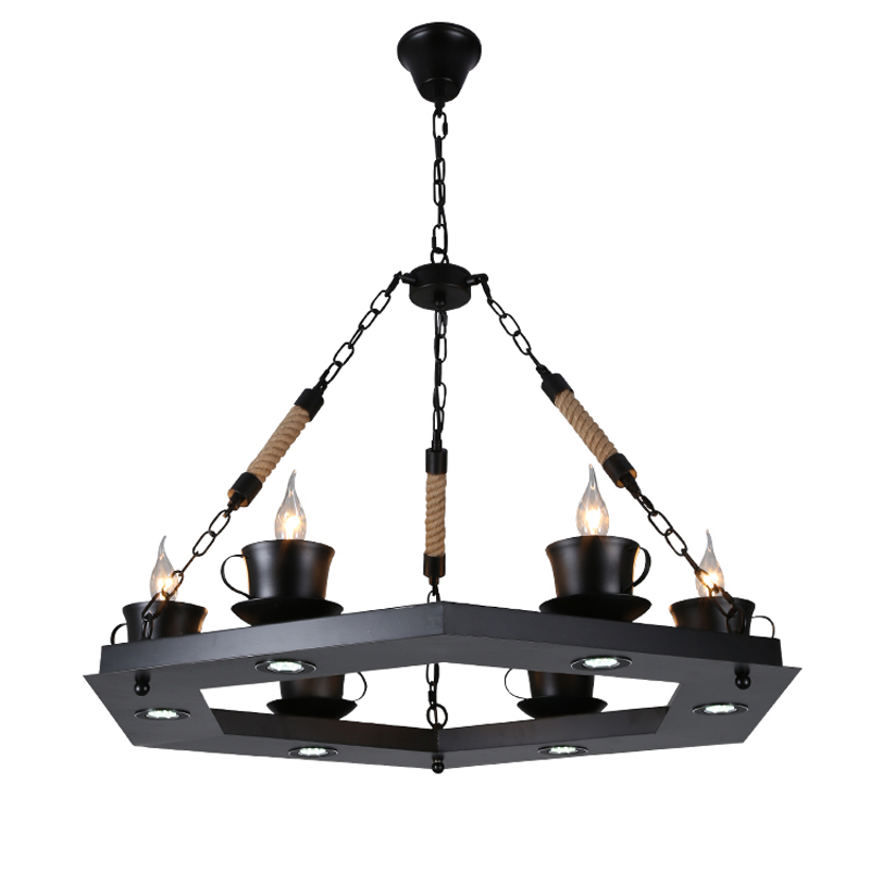 pendant lamps Retro industry hemp rope lamp living room lights restaurant cafe Glass iron pendant light ZH GY50 loft style vintage pendant lamp iron industrial retro pendant lamps restaurant bar counter hanging chandeliers cafe room