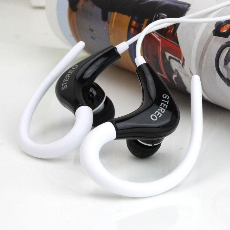 Daono sport  Headphones 3.5mm Earphones Ear-Hook Headphone Headset with mic earpiece For iPhone For Samsung MP3 player