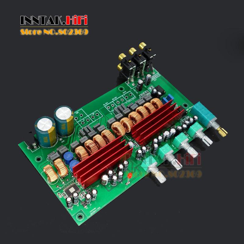 Prix pour 1 PC Assemblé TPA3116 5.1 canaux 100 W + 50 W * 5 Amplificateur conseil + Tone Adjust Amp Conseil, livraison gratuite