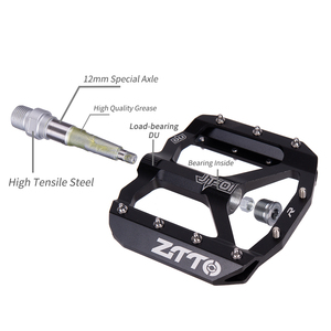 Image 3 - ZTTO vtt roulement en alliage daluminium pédale plate vélo bonne poignée léger 9/16 pédales grand pour gravier vélo Enduro descente JT01