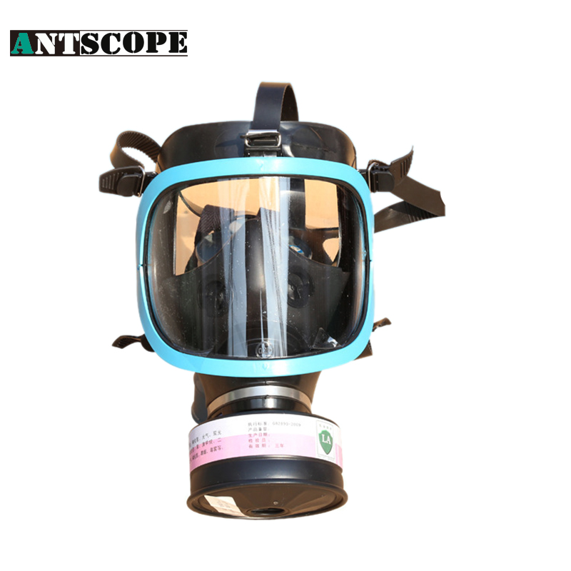 Chemical Full Facepiece Gas Mask Work Dust Respirator Painting Pesticide Spraying Silicone Mask With A Filter Proteccion Facial 3m 6800 6006 full facepiece mask reusable respirator filter protection masks anti multi acid gas