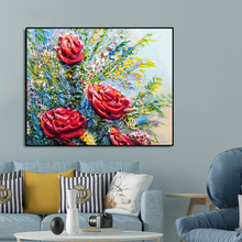 Flowers Rosy Famous Oil Painting Wall Art Poster Print Canvas Calligraphy Decor Picture for Living Room Home