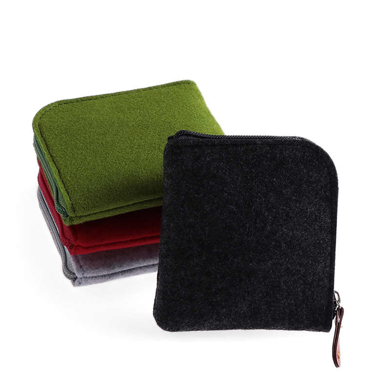 1 pc 새 고양이 지갑 여자 여자 미니 지갑 광장 펠트 동전 지갑 변경 돈 가방 주최자 여자 제로 가방 파우치 12.5 cm * 8 cm