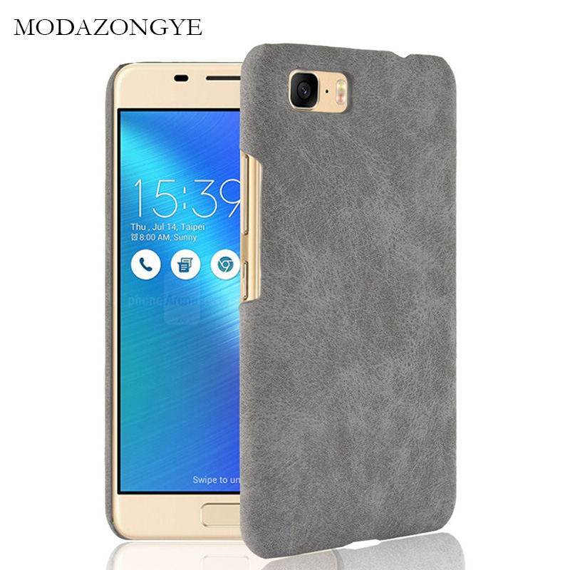 best service 411dd def2f For Asus ZenFone 3S Max ZC521TL Case PU Leather Hard Plastic Back Cover  Phone Case For Asus ZC521TL ZC 521TL X00GD 3 S 3SMax