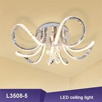L3508 5 светодиодный светильник с цветами и кристаллами в европейском стиле, домашний современный светодиодный потолочный светильник для гос