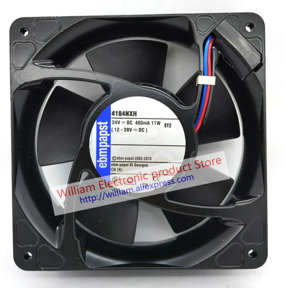 New Original EBM PAPST 4184NXH DC24V 460mA 11W 120*120*38MM 12cm high temperature resistant cooling fan original german ebmpapst 4294 h 24v 5 3w 12cm 120 120 38mm double ball bearing cooling fan