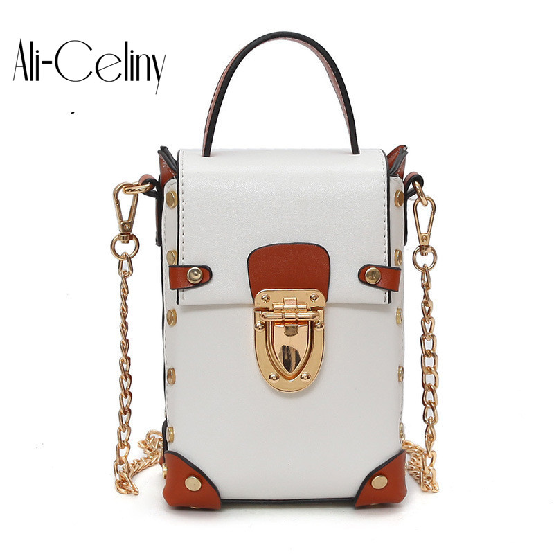 Brand original design box handbags mini Cube Brand original design crossbody bags for women messenger bags