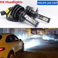 Pair White 6000K H4 HS1 H17 Car LED headlight bulbs 80W 9000LM With PhilipsChips Lumileds Kit Hi Lo beam Car Truck Headlamp