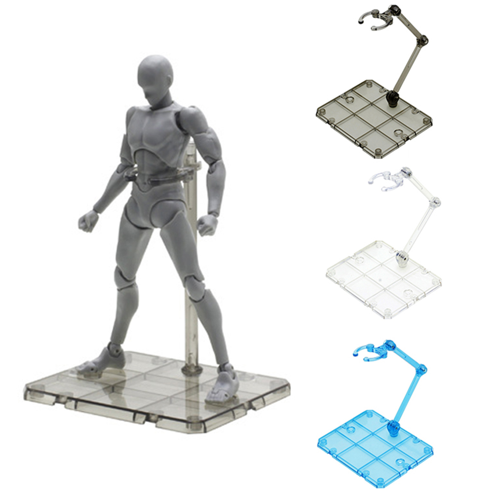 Clear Action Figure Holder Display Stand Base for HG RG SD SHF Gundam Model Toy improve Intelligence Kids