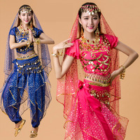 Plus Size 5pcs Set Belly Dance Costume Bollywood Costume Indian Dress Bellydance Dress Womens Belly Dancing