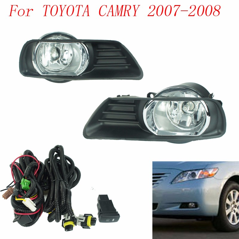 buy fog light for toyota camry 2007 2008 fog lamps clear lens bumper fog lights. Black Bedroom Furniture Sets. Home Design Ideas