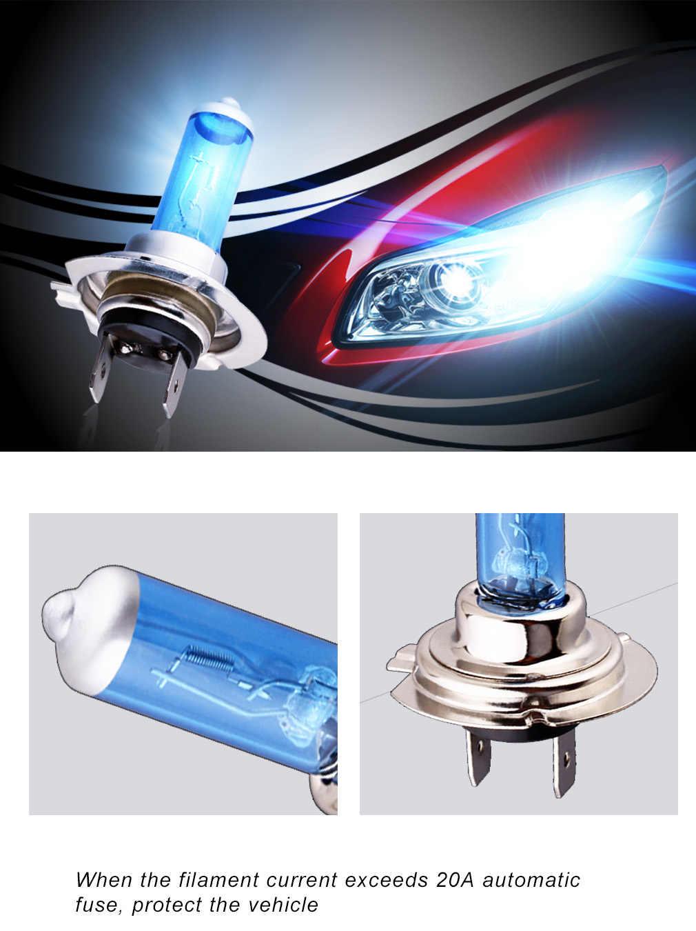 2PCS H4 H11 H7 55W 100W Halogen Headlight Bulb 12V H1 H3 9005 9006 9007 9004 HB3 HB4 HB5 Auto Fog Light White Car Lamp DRL