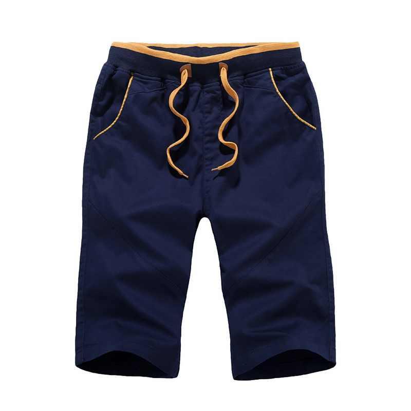 シュージン 2019 夏の若者のプラスサイズ膝丈ショーツ男性の綿カジュアル薄ショーツメンズ固体コットンストレートカーゴショーツ