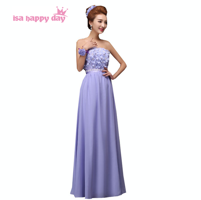 Latest Designs Long Dress Women Chiffon Evening Womens Formal Gowns Las Fashion Lavender A Line
