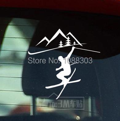 Us 49 4 Größen Cool Love Sport Ski Aufkleber Autoaufkleber Mode Aufkleber Lustige Auto Vinyl Band Decals 2826 In 4 Größen Cool Love Sport Ski