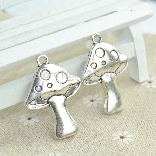 20pcs/lots alloy antique metal charm tibetan silver style mushroom pendant fit jewelry making Z42551