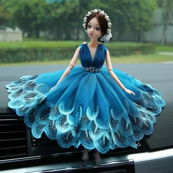 Dekoracja samochodu akcesoria samochodowe ozdoby samochodowe w biżuterii ozdoby ślubne bestie dziewczyna lalka prezent urodzinowy dla dzieci tanie i dobre opinie FUYOUSHENZHU Replika Kryształ 200g white blue red pink (4 colors can be selected) 1 pieces bags