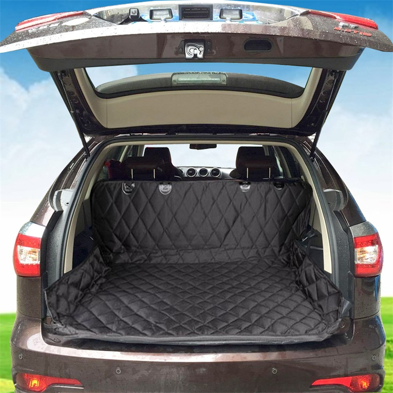 Dual-use Waterproof Soft Dog Car Trunk Mat Pet Car Seat Cover Pet Barrier Protect Car Floor From Spills And Pet Nail Scratches