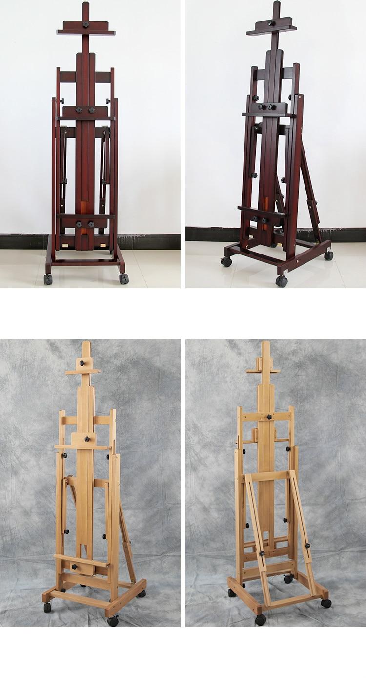 madeira maciça cavalete suporte de pintura acessórios