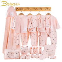 Cotton Newborn Clothes Baby Gift Set Cute Print New Born Baby Girl Clothes Infant Clothing Baby Boy Outfit Newborn Girl Set