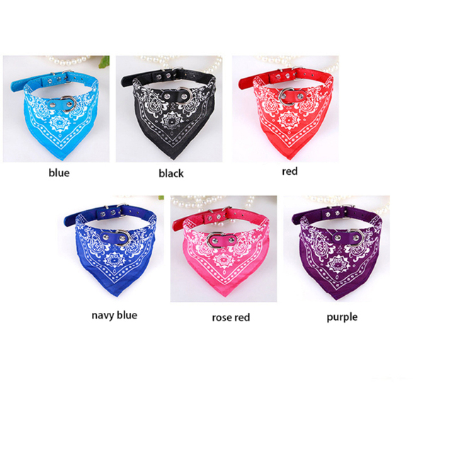 Adjustable Pet Cat Dog Collar Lovely Printed Fashion Pet Supplies Scarf Dogs Cat Personality Bandana Puppy Pet Neck Tie Collar