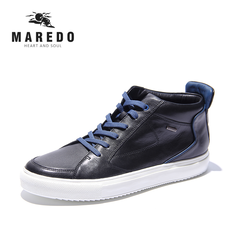 MAREDO men casual formal shoes Waterproof breathable leather shoes sports social male shoes 2017 new spring imported leather men s shoes white eather shoes breathable sneaker fashion men casual shoes