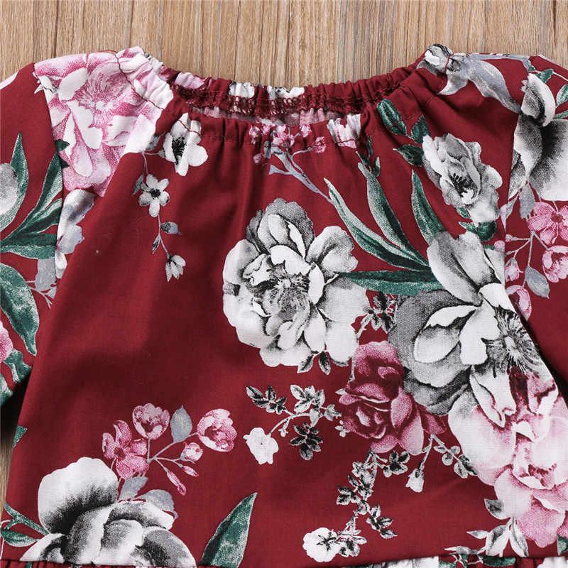 الوليد الرضع طفل الفتيات القطن الأزهار ملابس منقوشة بكم طويل داخلية البوب الخريف نشط الملابس 0-3 T