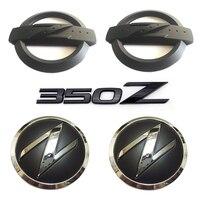 1 set(5x) 3D 350 Z Symbol Car Auto Front Rear Side Body Emblem Badge Stickers for NISSAN 350Z Fairlady Z Z33 Black