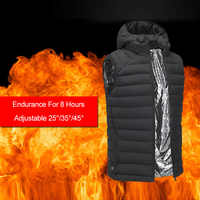 2018 new men's warm graphene smart security USB electric vest outdoor hiking heating cotton vest warm clothing winter jacket
