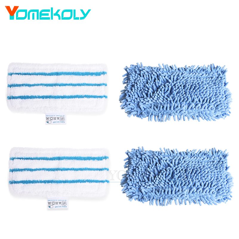 4pcs Replacement Steam Mop Pads For Black & Decker FSM1500 FSM1600 FSM1610 FSM1620 FSMH1621 FSM1630 & FSMP20 Cleaning Mop Cloth 4 pcs white microfibre steam mop cleaning floor washable replacement pads compatible for x5 h20 series dust cleaner part