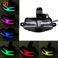 POSSBAY Motorcycle Turn Singal 1PCS LED Colorful 12V Motor Stop Tail Light Brake Lamp Turn Signal