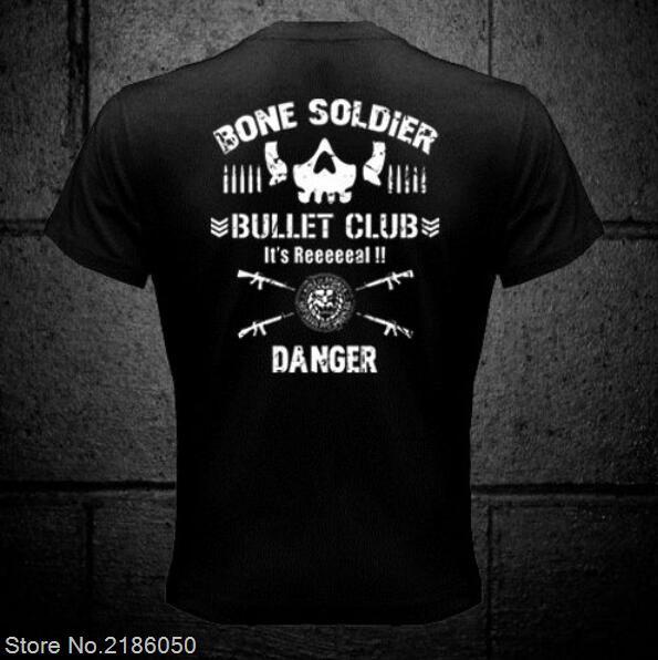 a7c300fba0930 NEW Bullet Club New Japan Pro Wrestling Puroresu Njpw 2 Side Black T Shirt  Men T Shirt Cotton Tee-in T-Shirts from Men s Clothing on Aliexpress.com ...