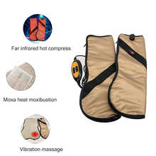 Electric Far infrared Waist Neck Shoulder Hand Massager Vibration Heating Meridian Physiotherapy device for Arms Joints Massage