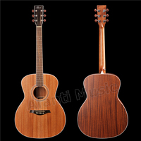 41 inch Left hand/ Solid Africa Mahogany top Acoustic guitar (ADK 138)