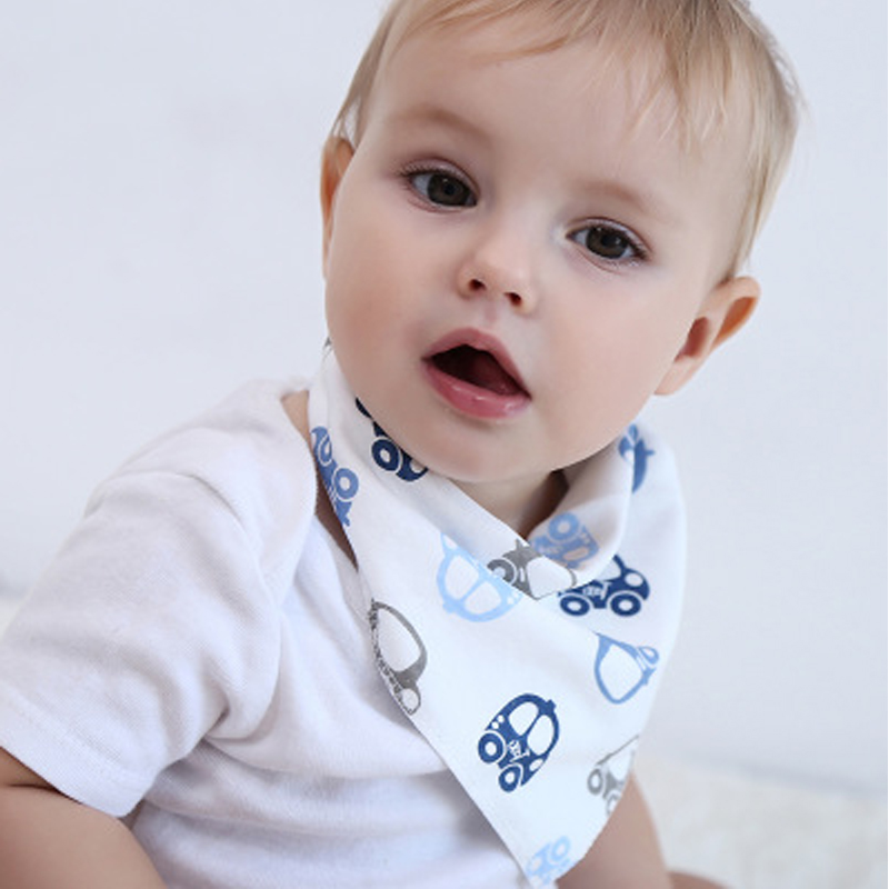 Baby Kids Infant Newborn Waterproof Cotton Bandana Bibs Feeding Saliva Towels