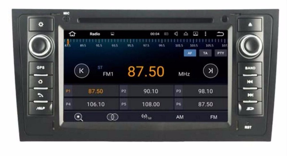 ROM 16G Quad Core <font><b>Android</b></font> 7.1 Car Radio For <font><b>Audi</b></font> <font><b>A6</b></font> 1997 1998 1999 2000 2001 - <font><b>2004</b></font> /Allroad 2000-2006 Car Multimedia DVD Player image