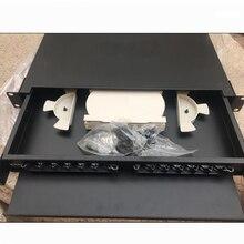 19 дюймов 12 core ODF Pull type Оптическое волокно распределительная рамка 12 портов в стойку для внутреннего волокна распределительная рамка патч-панель