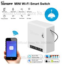 SONOFF MINI interruptor WiFi módulo temporizador inteligente 10A interruptor de 2 vías compatible con aplicación/LAN/Control remoto de voz DIY para automatización inteligente del hogar