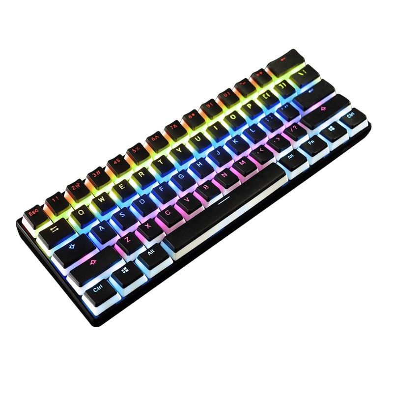 Épais PBT Clavier Mécanique Rétro-Éclairage Keycap OEM Profil 104 Clé Clé Translucide Casquettes Double-Lait pour La Peau Gaming Clavier Keycap