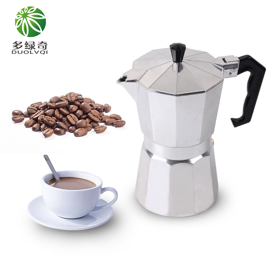 DUOLVQI 1/3/6/9/12cup Stovetop Moka Coffee Maker Italian Top Moka Espresso Cafetera Expresso