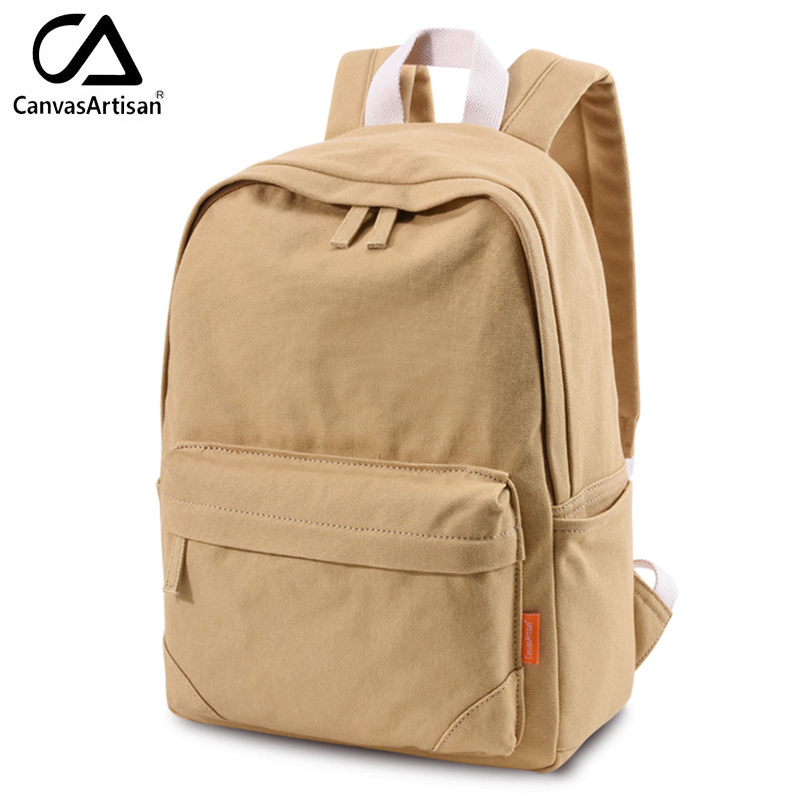 81c7d1e7c14e Canvasartisan Top Quality Canvas Backpack Women s Men s Travel Daypack  Unisex Shoulder Bags College Bookbag Laptop Backpacks