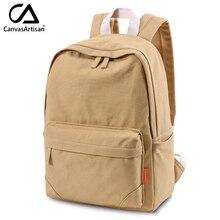 Canvasartisan Top Quality Canvas Backpack Women's Men's Travel Daypack Unisex Shoulder Bags College Bookbag Laptop Backpacks