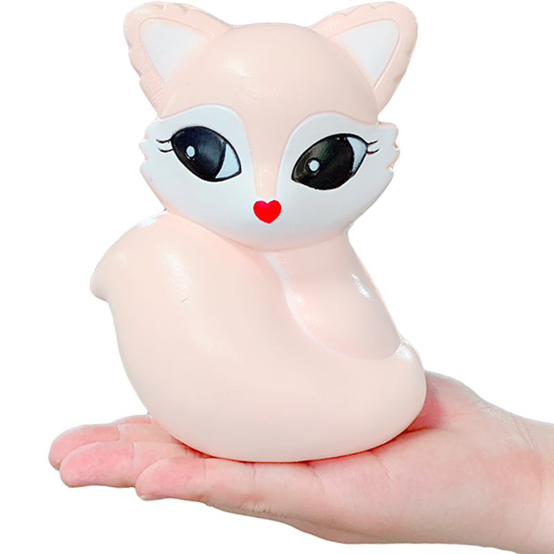 Jumbo Kawaii Fox Squishy Slow Rising Simulation Soft Scent Squeeze Toy Stress Relief Original Package Fun Gift Toy For Children