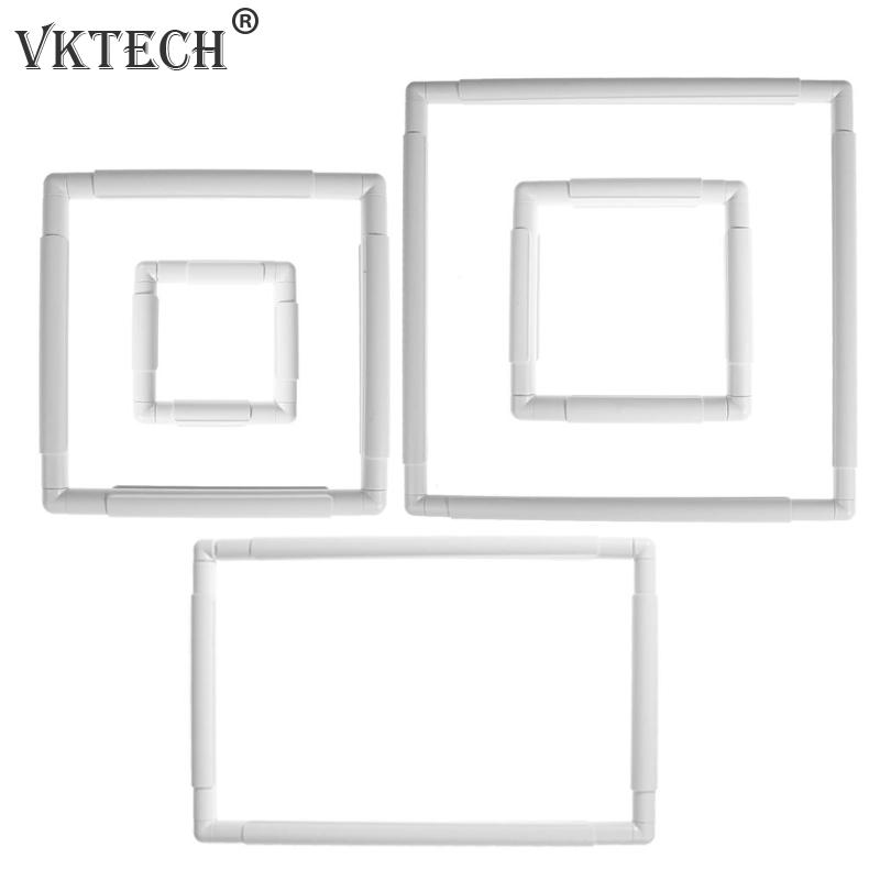 5 Size Plastic Square Shape Embroidery Frame DIY Craft Cross Stitch Needlework Sewing Hoop Craft Accessor Craft Accessories Tool