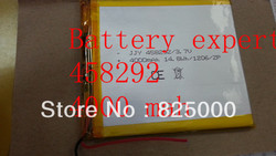458292 3.7 V 4000 mAH 408090 (akumulatory polimerowe) przez 7 cal tablet pc D70pro II  q88  vido