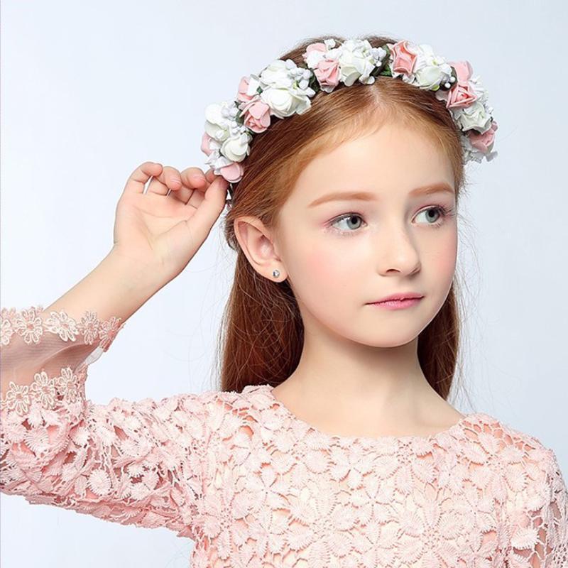 The Children Head Ring Flower Wreath Headdress Girls