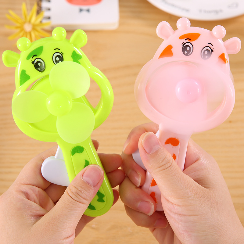 Summer Fan Child Cow Hand Pressure Fan Cute Cartoon Funny Novelty Fashion 2018 Boy Girl Cute Fan Baby Toy